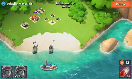 Boom Beach mod for android (gameplay screenshot)