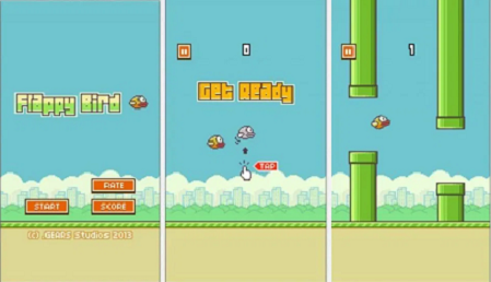 Flappy bird apk for android (gameplay screenshot)