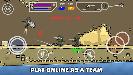 Mini Militia Doodle Army 2 Mod apk for android (Gameplay screenshot)