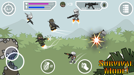 Mini militia Doodle Army 2 apk for android (Gameplay screenshot)