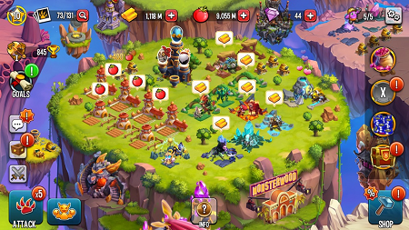 Monster Legends mod (gameplay screenshot)