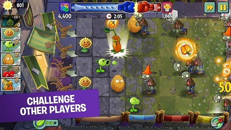Plants vs zombies 2 hack (gameplay screenshot)